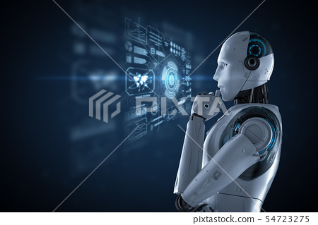 Robot with graphic display 54723275
