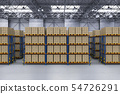 Rack in warehouse 54726291