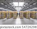 Rack in warehouse 54726298