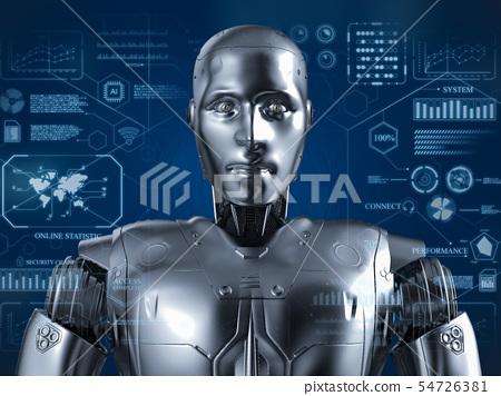 Humanoid robot with hud 54726381