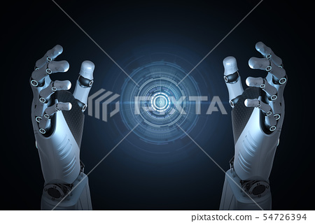 Robot hand with graphic display 54726394