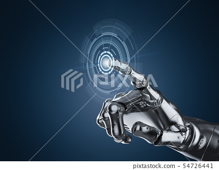 Robot hand with graphic display 54726441