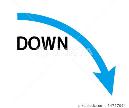 向下箭头图标箭头向下 54727044
