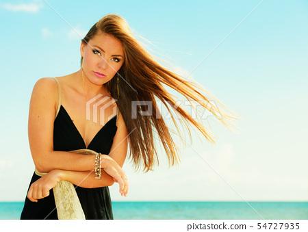 Beautiful summer girl portrait outdoor 54727935