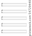 Grand staff, great stave, sheet of notes template 54729440