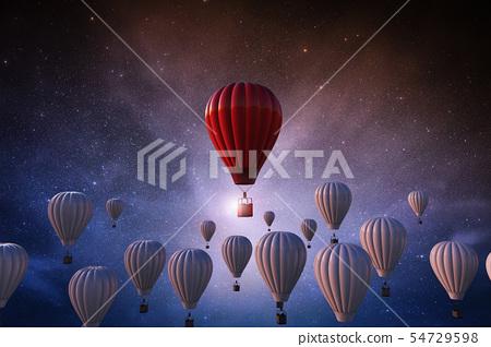 hot air balloon in sky 54729598