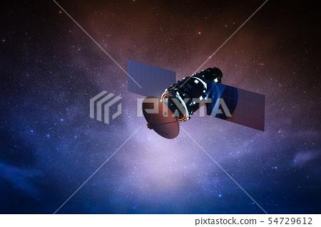 satellite on space 54729612