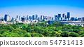 東京新國家體育場和都市風景在東京中央 54731413