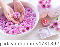 Spa treatment and product for female feet 54731892