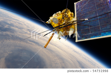 Modern meteorological satellite at the Earth orbit 54731998