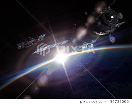 Space maneuver at the Earth orbit 54732000