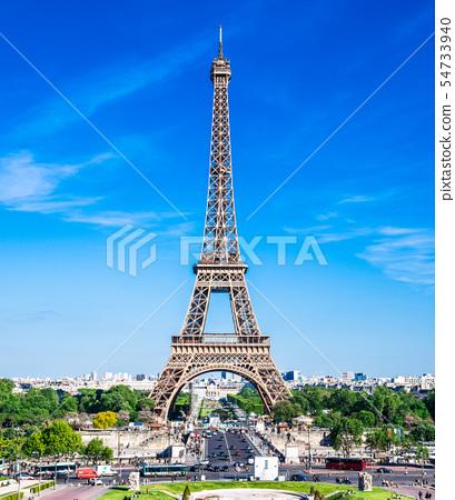 세계 유산 파리의 세느 강변 에펠 탑 세로 54733940