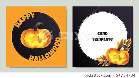 Carved Halloween pumpkin head jack lantern  54734734