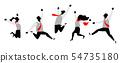 Illustration of team jumping up 54735180