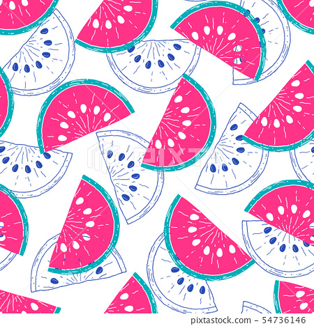 pattern with watermelons 54736146