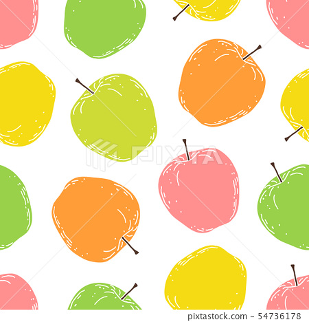 pattern with apples 54736178