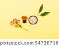 Bronzer powder and kabuki brush 54736716