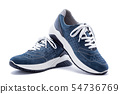 Men's shoes in natural nubuck leather isolated on 54736769