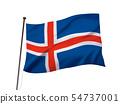 아이슬란드의 국기 이미지 54737001