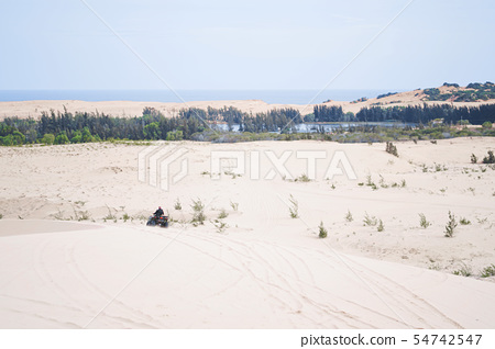 White sand dunes at Muine, Vietnam. 54742547