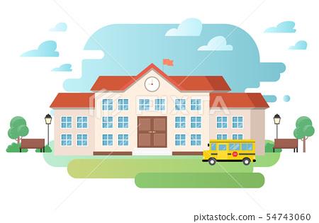 건물 벡터 일러스트 - 학교 54743060