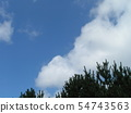 Summer blue sky and white clouds 54743563