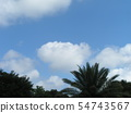 Summer blue sky and white clouds 54743567