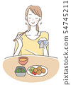 Women who chew and eat well 54745211