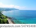 ท้องฟ้าสีฟ้าฮอกไกโดและนักบวชเทพแห่งทะเลสีฟ้า 54745408