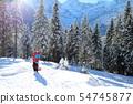 boy with sledge 54745877