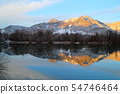 snowy mountain with lake 54746464