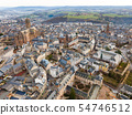 View from drone of Rodez, France 54746512