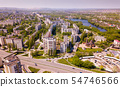 Aerial view of Stary Oskol with Alexander Nevsky Cathedral 54746566