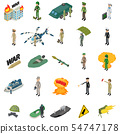 Soldier military icons set, isometric style 54747178