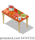 Homemade food concept banner, isometric style 54747333