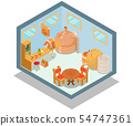 Pub concept banner, isometric style 54747361