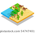 Oasis concept banner, isometric style 54747401