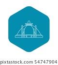 Pollonaruwa, Sri Lanka icon, outline style 54747904
