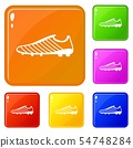 Football boots icons set vector color 54748284