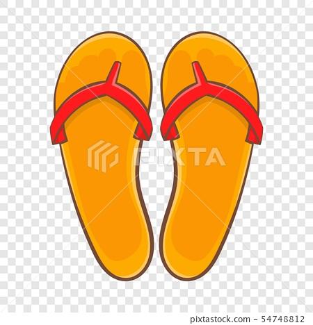 Flips flops icon, cartoon style 54748812