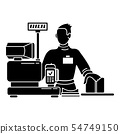 Man cashier icon, simple style 54749150