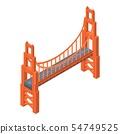 Golden gate bridge icon, isometric style 54749525