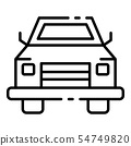 Pick up car icon, outline style 54749820
