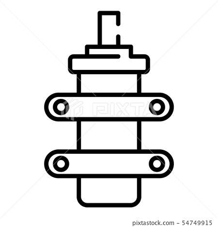 Electric condensator icon, outline style 54749915