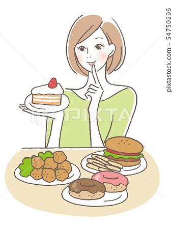 想要吃很多的女人 54750296
