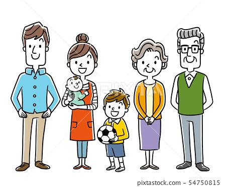 Family: 3 generations 54750815