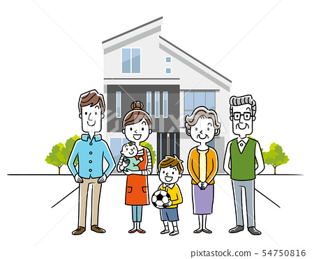 3 generation family and house, one house 54750816