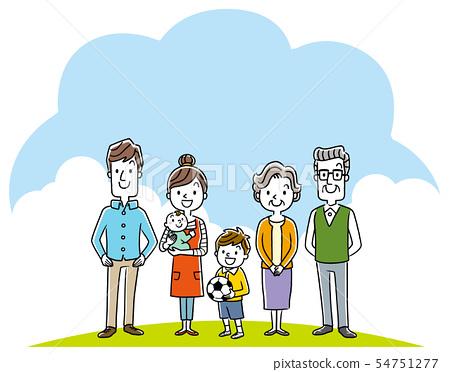 가족 : 3 세대 54751277