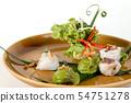 Streamed Fresh riceflour rolls with mined wood ear 54751278