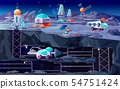 Space planet colonization vector cartoon 54751424